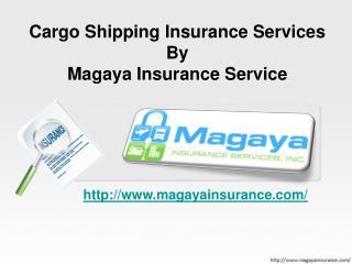 Cargo Shipping Insurance ServicesByMagaya Insurance Service