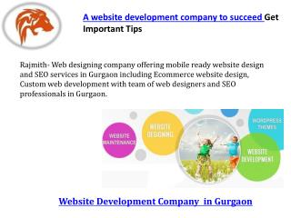 A website development company to succeed get important tips