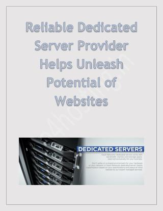 Reliable dedicated Server Hosting Provider