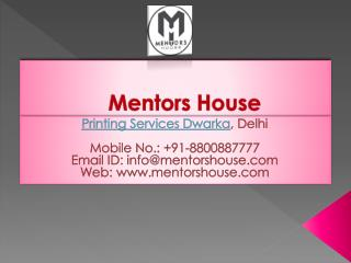 Printing Company - Offset Printing Services in Dwarka, Delhi