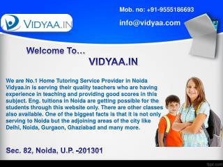 Private tuitions at home in noida through online means