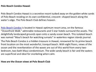Vacation Rentals Maui
