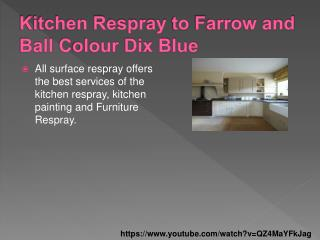Kitchen Respray Before and After