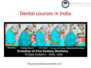 Dental courses in India