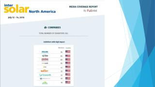 Intersolar Media Impact Report by FullIntel