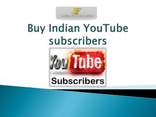 Buy Indian YouTube subscribers