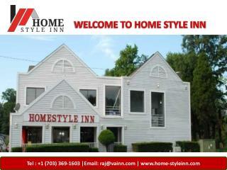 Check in to the Home-Style Inn Manassas VA