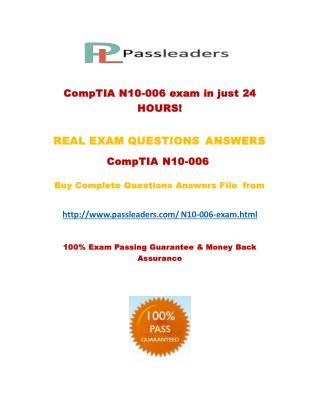 Passleader N10-006 Study Guide