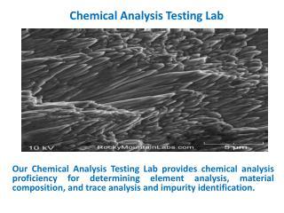 Chemical Analysis Testing Lab