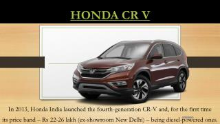 Honda CRV Price in India, Review, Pics, Specs & Mileage