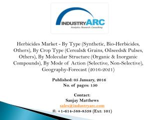 Herbicides Market stabilizing owing to rising laws on chemical ingredients in herbicides.
