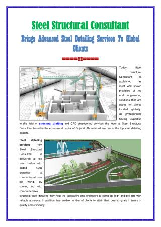 Brings Advanced Steel Detailing Services To Global Clients