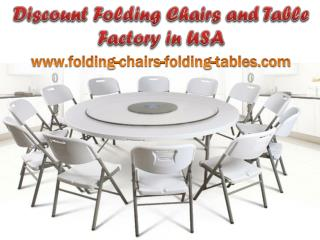Discount Folding Chairs and Table Factory in USA