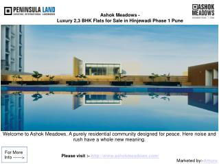 Ashok Meadows - Apartments In Hinjawadi Phase I Pune