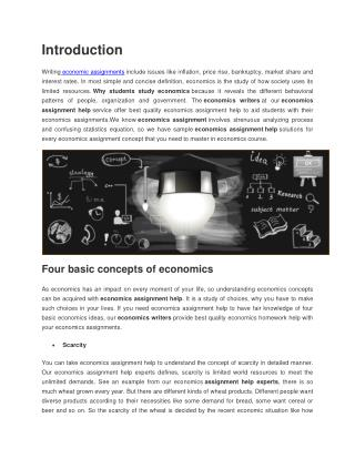 Online Economics Assignment