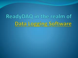 Data Logging Software (DAQ)