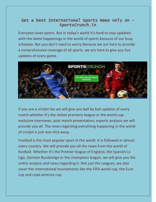 International Sports News