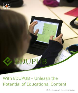 With EDUPUB – Unleash the Potential of Educational Content