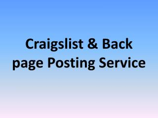 Backpage Posting Service – CLPS