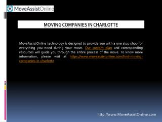 List of Top Moving Companies in Charlotte