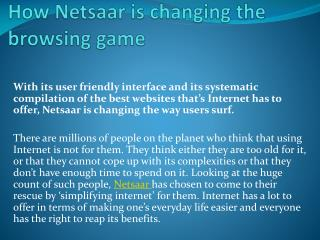How Netsaar is changing the browsing game
