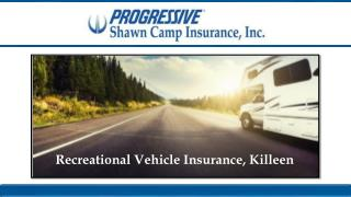 Recreational Vehicle Insurance, Killeen