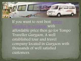 Tempo Traveller Hire Services in Gurgaon