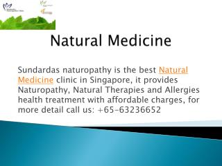 Natural Medicine Clinic in Singapore