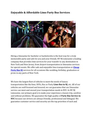 Party Bus NYC