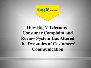 bigv telecoms consumer complaint and reviews