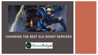 Choosing The Best Elo Boost Services