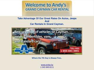 Get Around the Cayman Islands with a Reliable Car Rental Service