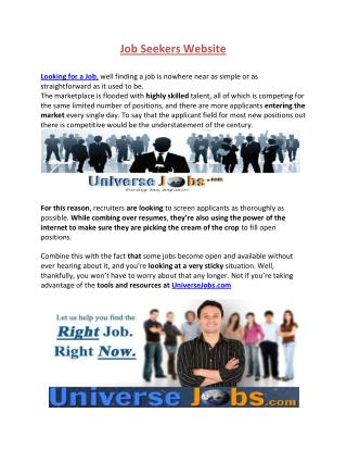 Job Searching Website
