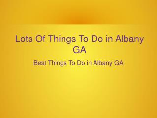 Night Party is The Best Things To Do in Albany GA