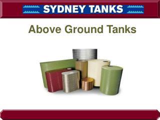 Aboveground Water Tank - Sydney