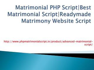 Matrimonial PHP Script|Best Matrimonial Script|Readymade Matrimony Website Script