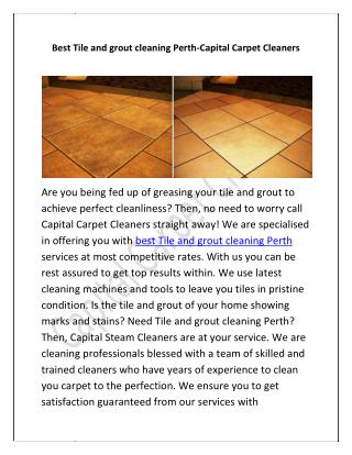 Best Tile and Grout Cleaning Perth