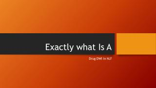 In New Jersey What Determines A Drug DWI
