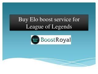 Buy Elo boost service for League of Legends