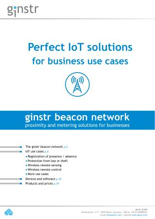 Perfect IoT solutions for business use cases