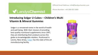 Introducing Solgar U-Cubes – Children's Multi Vitamin & Mineral Gummies