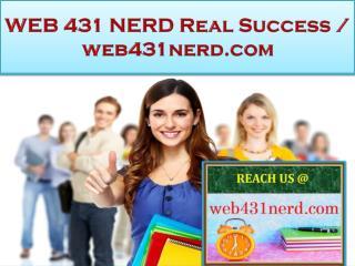 WEB 431 NERD Real Success / web431nerd.com