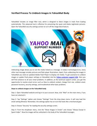 Verified Process To Unblock Images In YahooMail Body