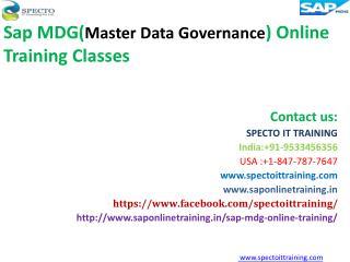 SAP MDG online training | sap mdg online training