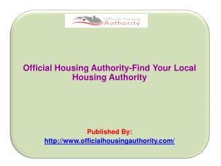 Find Your Local Housing Authority