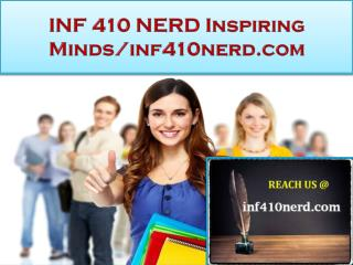 INF 410 NERD Real Success / inf410nerd.com