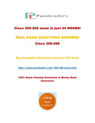 Passleader 300-208 Study Guide
