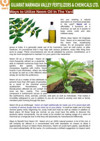 Uses of neem oil in garden for plants saftey