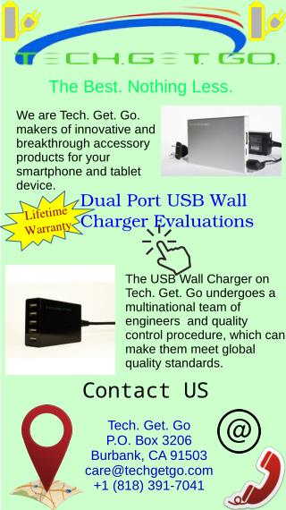 Dual Port USB Wall Charger Evaluations