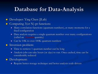 Database for Data-Analysis